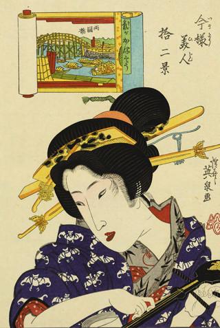 ☆浮世絵師 渓斎英泉の描く着物テキスタイルにうっとり♪☆