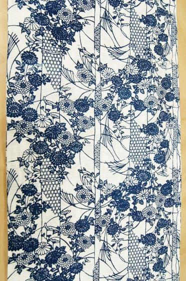 竹と菊浴衣