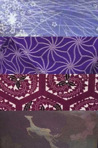 【着物色図鑑】紫色