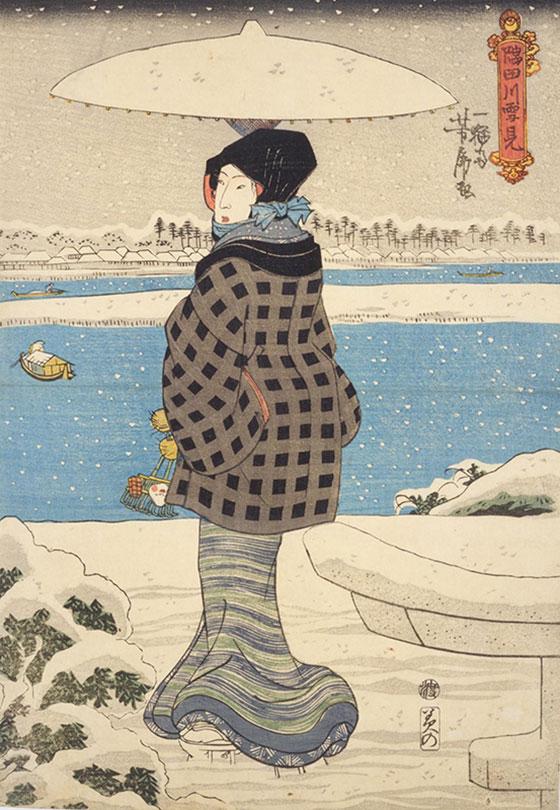 隅田川の雪見右