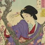 ☆錦絵で楽しむ四季の装い☆ 匂いやかな梅の花と着物姿