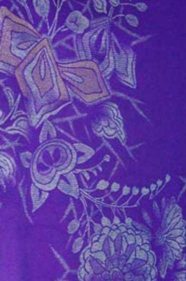紫お召着物