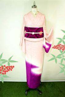 ☆新商品UP☆紫の暈しが美しい付け下げや浅葱色の八掛がお洒落なアンティック着など(*^^*)