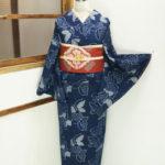 ☆新商品UP♪☆藍色美しい綿紬蝶着物や人気のセットン着物など♪