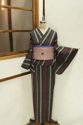 ☆新商品UP♪☆モダン縞単着物や色浴衣など(*^^*)
