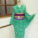 ☆新商品UP♪☆綺麗な緑色夏着物やポップ浴衣など♪