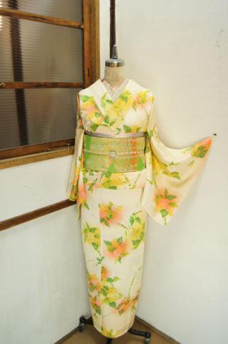 ☆新商品UP☆白樺の着物に木立の帯♪