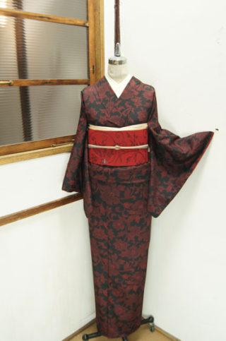 ☆新商品UP♪☆オリエンタルな赤黒紬着物や絞り薔薇の羽織など♪