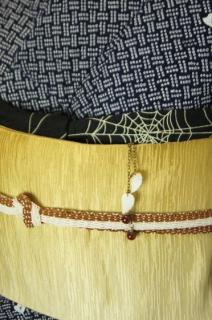 ☆新商品UP☆蜘蛛の巣の絽帯揚と帯締の夏小物セット