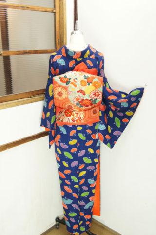 ☆新商品UP♪☆カラフル扇の綸子着物やピンク×ブルーのアンサンブルなど(*^^*)
