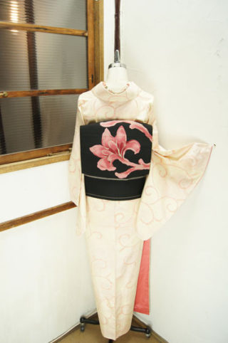 ☆新商品UP♪☆ふんわり桜色唐草紬やガーリーウール☆