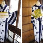 ☆新商品UP☆縞夏着物やレトロスカーフの様な浴衣など(^^)