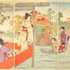 ☆錦絵で楽しむ四季の装い☆ 滝の川紅葉の三曲