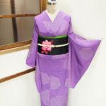 ☆新商品UP♪☆ふんわりカラーの薔薇紬着物や黒地薔薇帯など☆