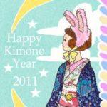 ☆Happy Kimono Year 2011☆一足早い新春気分のイラストです
