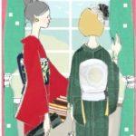♪キモノイラストの着物♪神戸で洋館コーディ