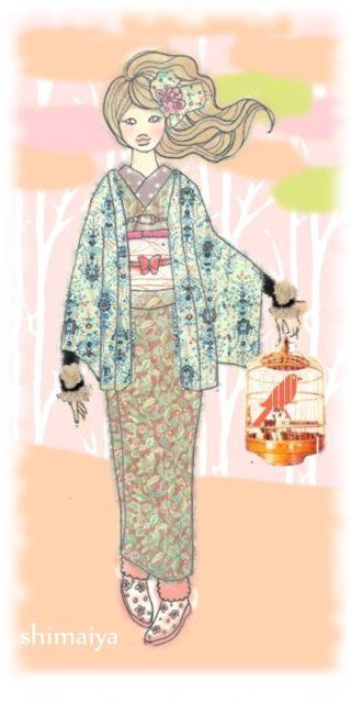 ☆着物乙女イラストと着物見比べ☆ 3