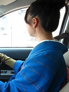 着物でドライブ