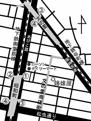 アンティーク着物・リサイクル着物のお店姉妹屋の地図