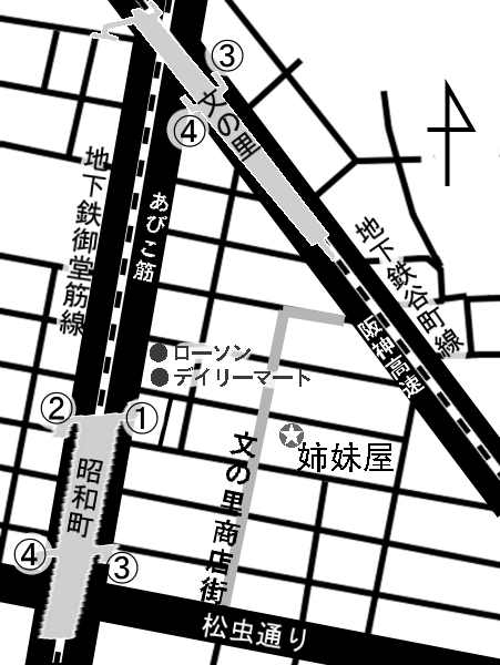 姉妹屋地図